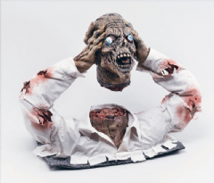 Cut Off Zombie Head Halloween Prop